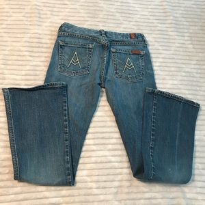 """7 for all Mankind """"A"""" Pocket Flare Jeans size 26"""